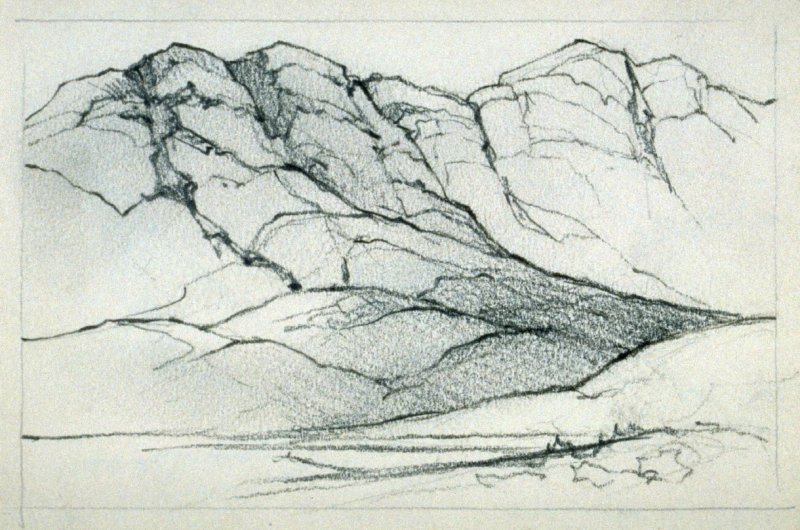 Page 5 in the untitled Sketchbook of Mountain Scenes