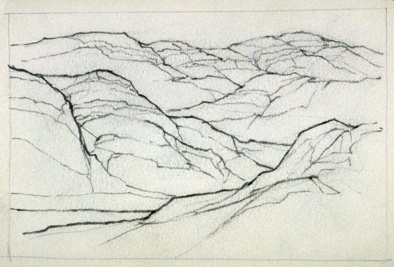 Page 8 in the untitled Sketchbook of Mountain Scenes
