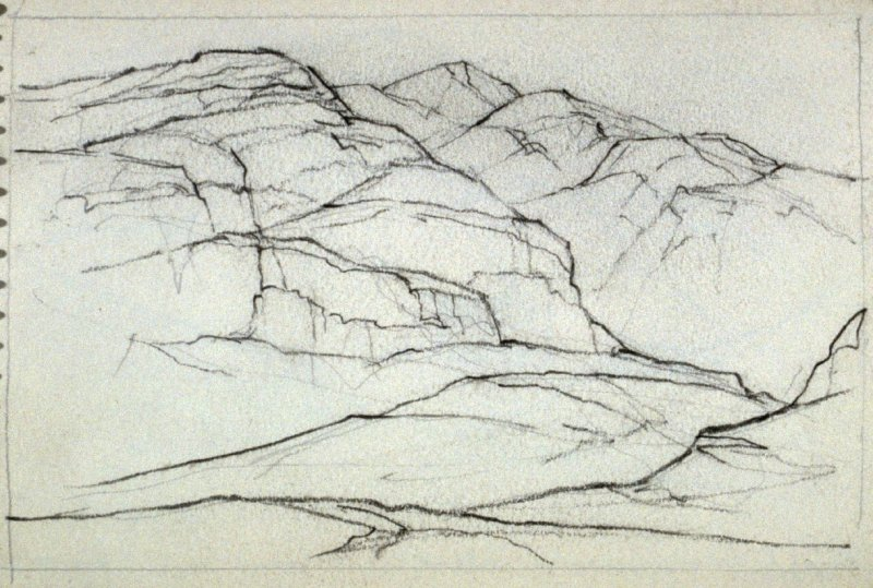 Page 10 in the untitled Sketchbook of Mountain Scenes
