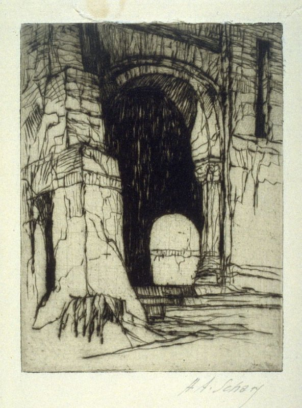 Entrance to a temple (untitled)