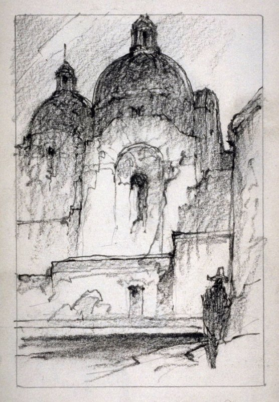 Page 6 in the untitled Sketchbook of Mexican Scenes