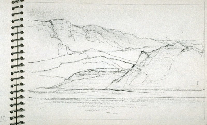 Page 15 in the untitled Sketchbook of Mountain Scenes