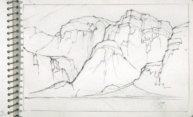 Page 21 in the untitled Sketchbook of Mountain Scenes