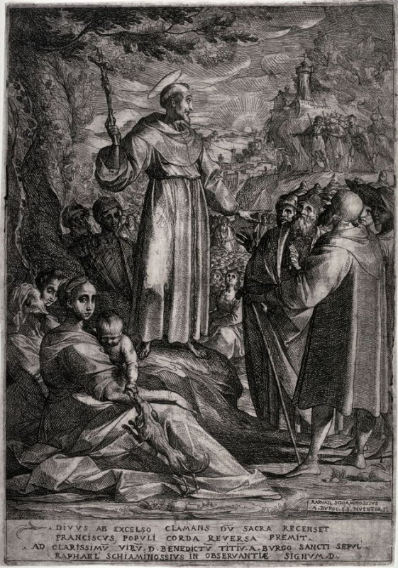 Saint Francis of Assisi Preaching