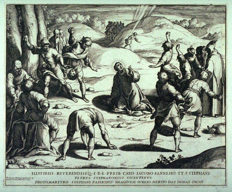 The Stoning of St. Stephen, after Luca Cangiaso