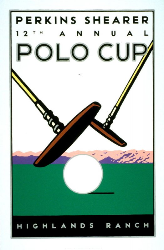 Twelfth Annual Polo Cup, poster for Perkins Shearer, Denver