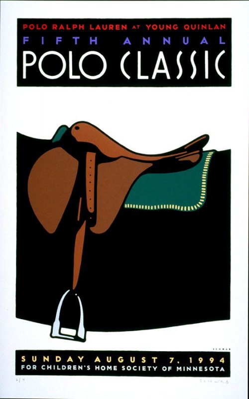 Fifth Annual Polo Classic, poster for Polo Retail Corporation, Denver