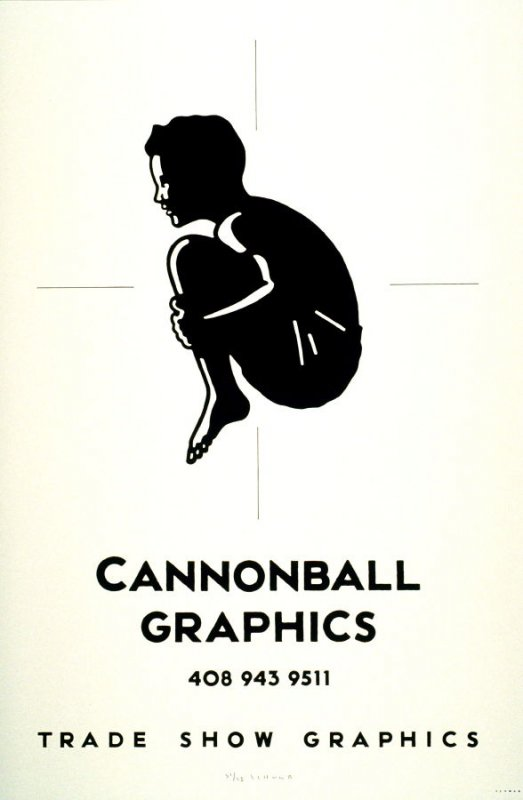Cannonball Graphics, poster for the screenprint company in San Jose
