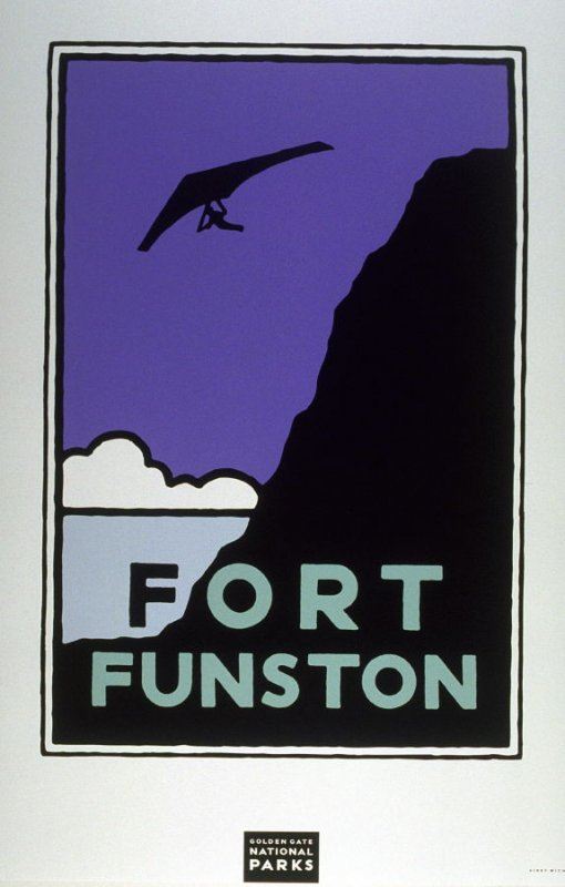 Fort Funston, from a series of posters for the Golden Gate National Parks