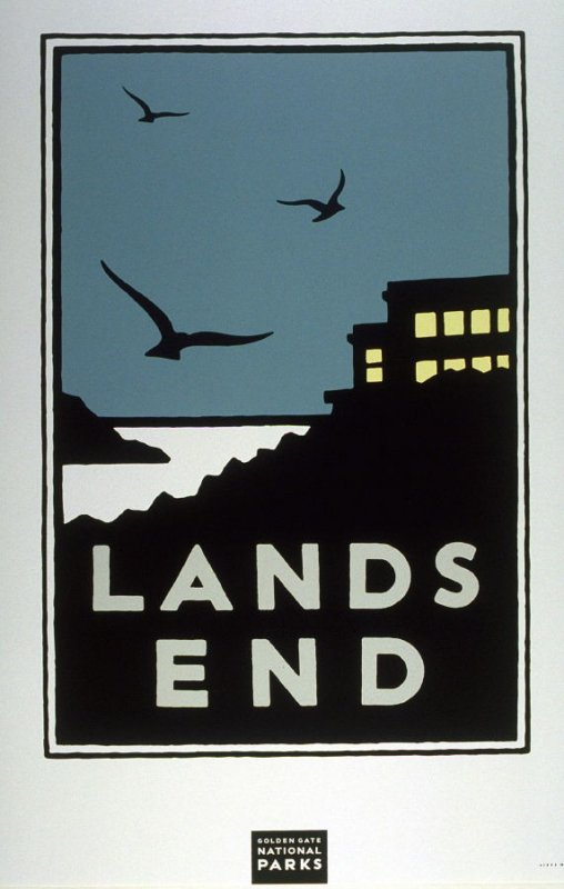 Lands End, from a series of posters for the Golden Gate National Parks