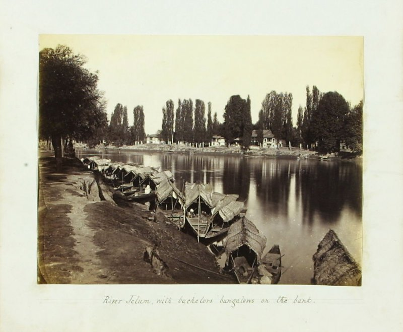 River Jelum, with Bachelors' Bungalows on the Bank