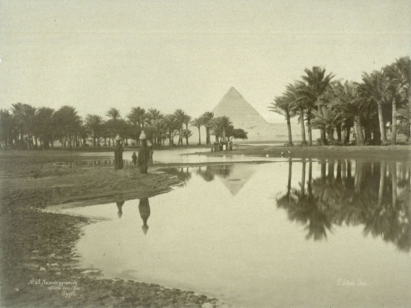Second Pyramid Reflected in the Water, Gizeh