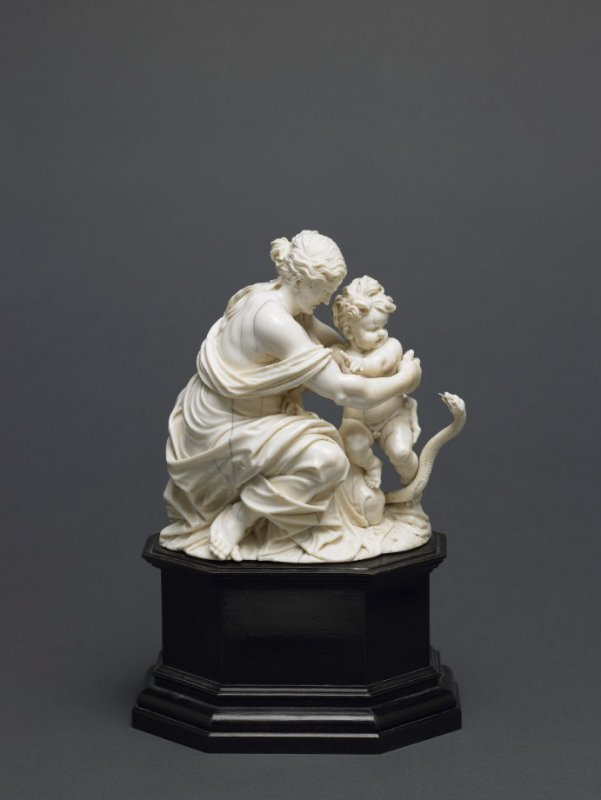 Female Figure with the Infant Hercules being attacked by a Snake