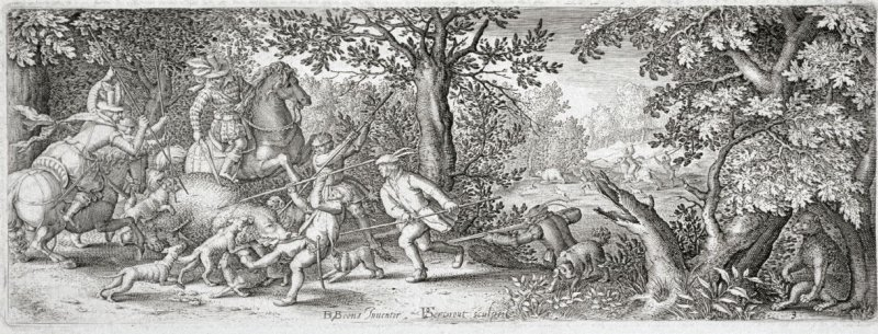 Bear Hunt, from a series of hunting scenes