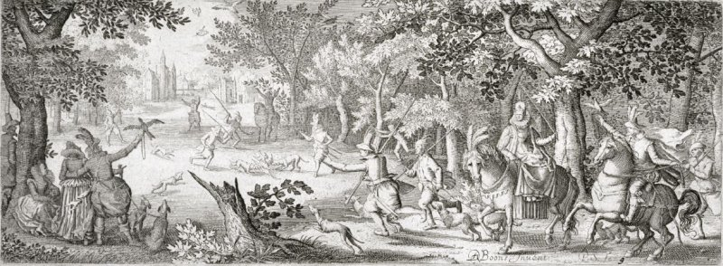 Heron Hunt, from a series of hunting scenes