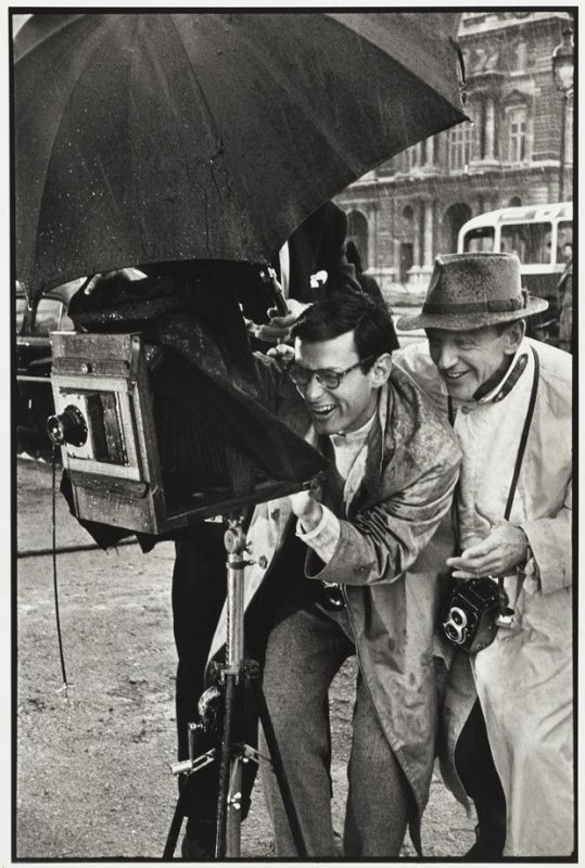 Richard Avedon and Fred Astaire on the set of Funny Face