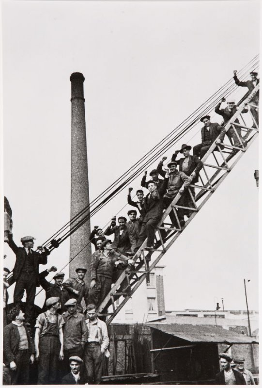 Striking Workers at a Renault Factory, France