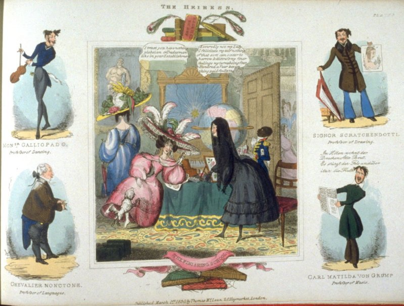 Plate 3 in the book The Heiress (London: Thomas McLean, 1830)