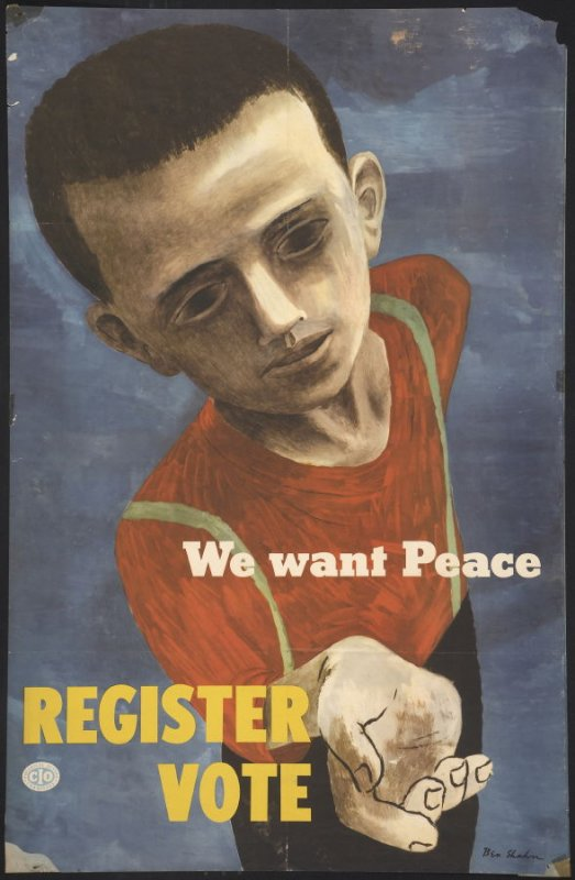 We Want Peace, Register to Vote
