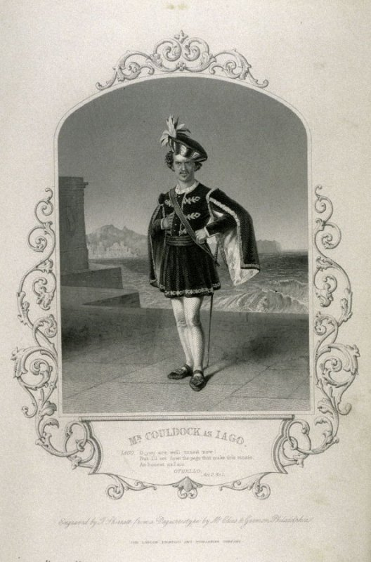 Mr. Couldock as Iago in Othello