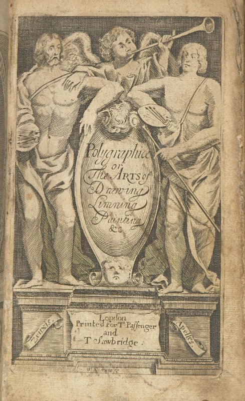 Illustration 2 in the book Polygraphice: The Arts of Drawing, Limning,Painting &c. by William Salmon (London: Thomas Passinger and Thomas Sawbridge, 1685)