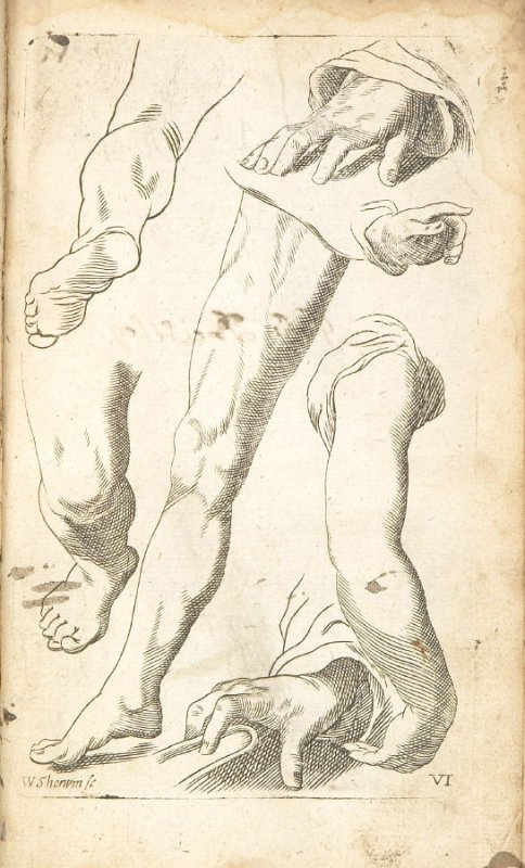 Illustration 6 in the book Polygraphice: The Arts of Drawing, Limning,Painting &c. by William Salmon (London: Thomas Passinger and Thomas Sawbridge, 1685)