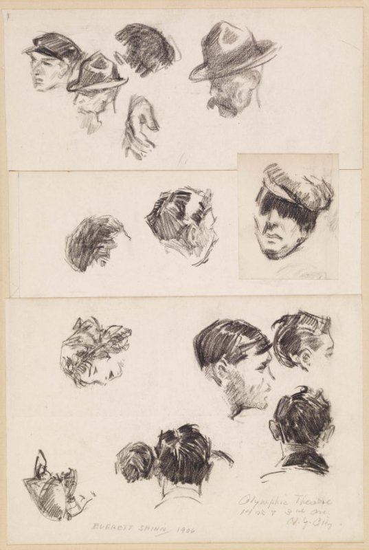 Study of Heads, (Old) Olympic Theatre, 14 st & 3rd Ave, NY City