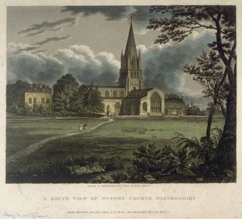 A South View of Witney Church, Oxfordshire