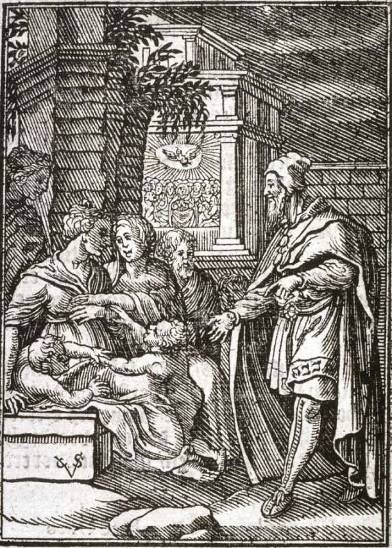 Elizabeth Presenting John the Baptist to Mary and Jesus