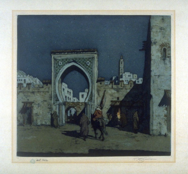 Tangiers Gateway in the Moonlight