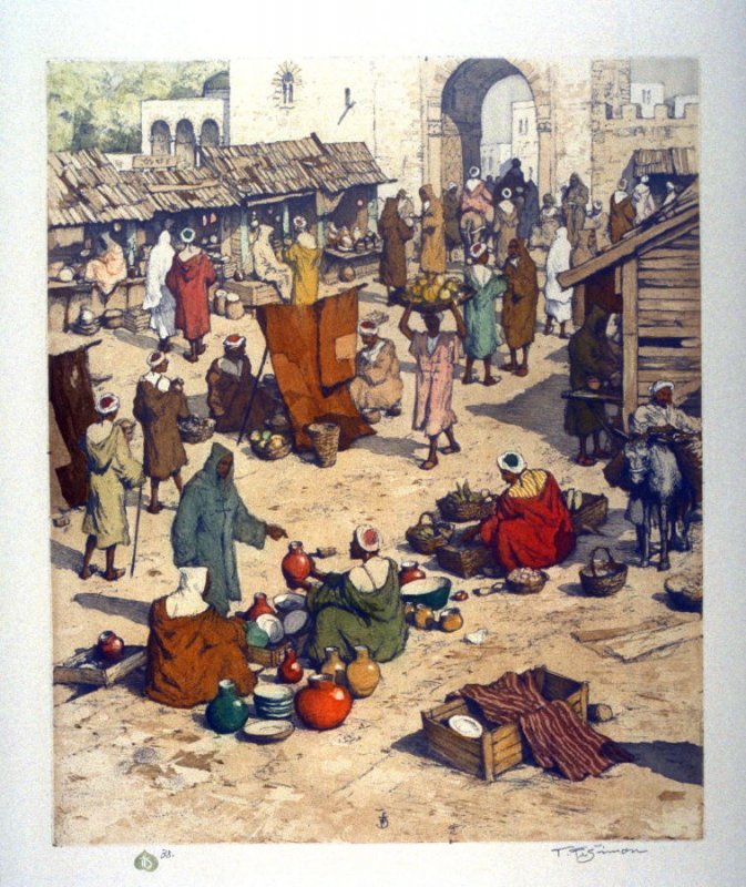Market in Tangiers, Morocco