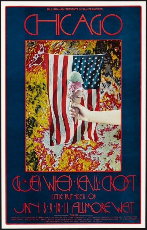 Chicago, Guess Who, Seals & Croft, January 8 - 11,  Fillmore West