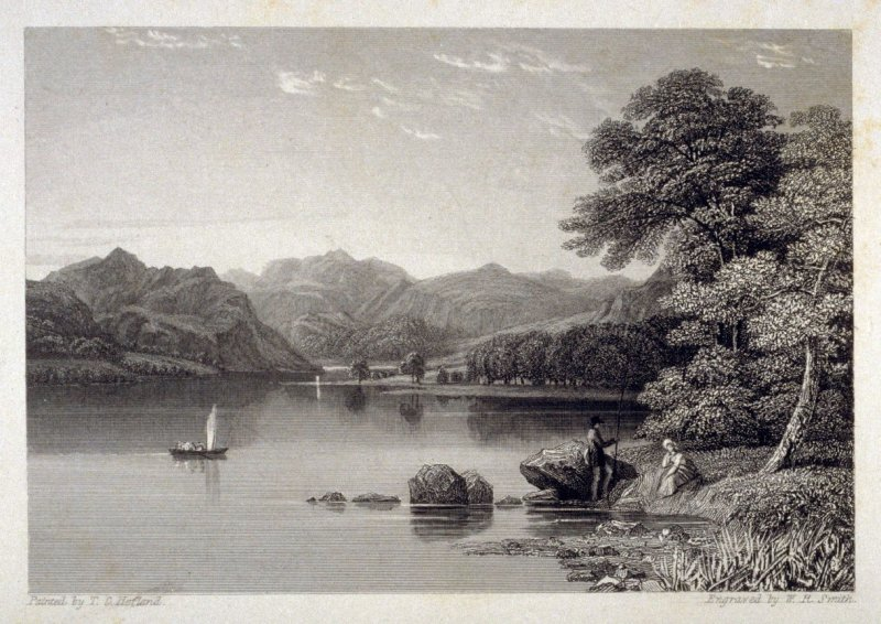 [landscape with lake (river)] - from the Portfolio: Proofs Before the Letters of the Steel Plates to Hofland's British Angler's Manual