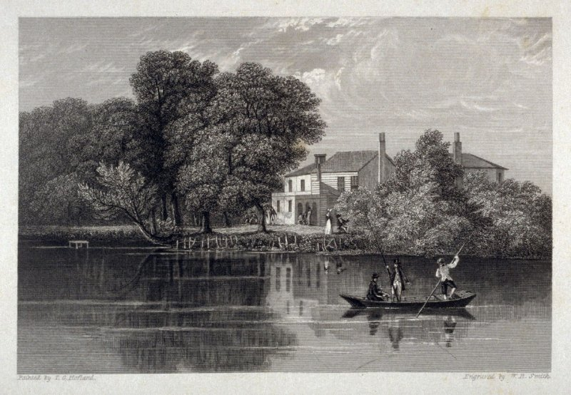 [river scene,with boat] - from the Portfolio: Proofs Before the Letters of the Steel Plates to Hofland's British Angler's Manual