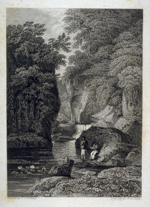 [river canyon with two anglers] - from the Portfolio: Proofs Before the Letters of the Steel Plates to Hofland's British Angler's Manual