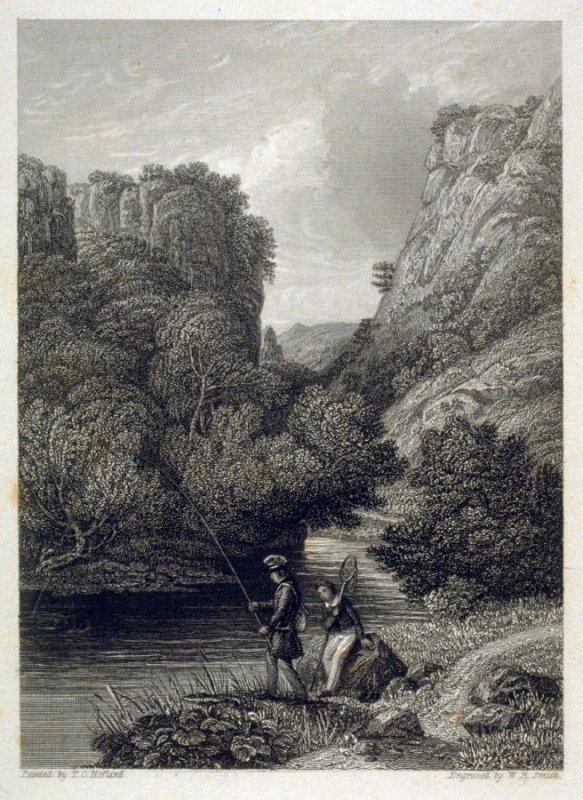 [river scene with two anglers] - from the Portfolio: Proofs Before the Letters of the Steel Plates to Hofland's British Angler's Manual