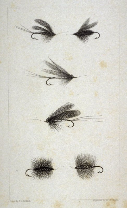Artificial Flies - from the Portfolio: Proofs Before the Letters of the Steel Plates to Hofland's British Angler's Manual