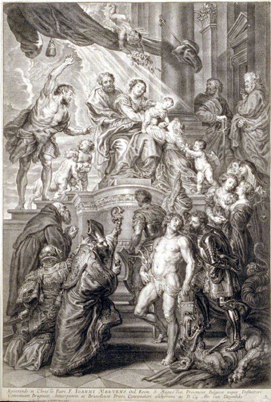 Holy Family Surrounded by Saints