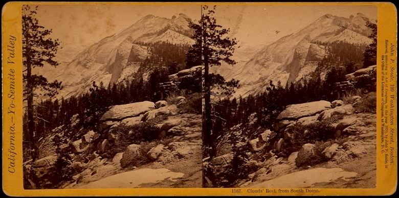 1167. Clouds' Rest from South Dome, California - Yosemite Valley