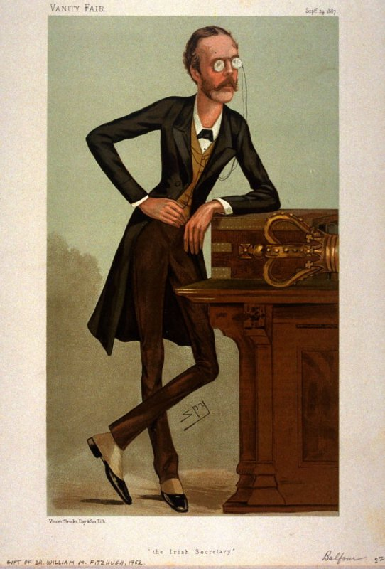 Vanity Fair, Statesmen No. 529: The Irish Secretary (The Right Honorable Arthur James Balfour), September 24, 1887