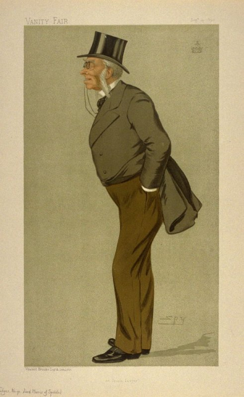 """an Irish lawyer"" (Lord Morris of Spiddal), Judges No. 41 from Vanity Fair, September 14, 1893"