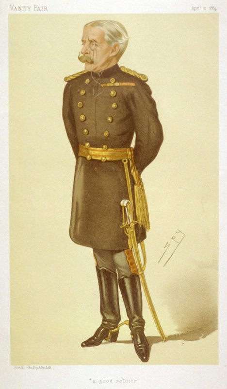 "Lieutenant General George W.A. Higginson, ""A good soldier"", from Vanity Fair, April 12, 1884"