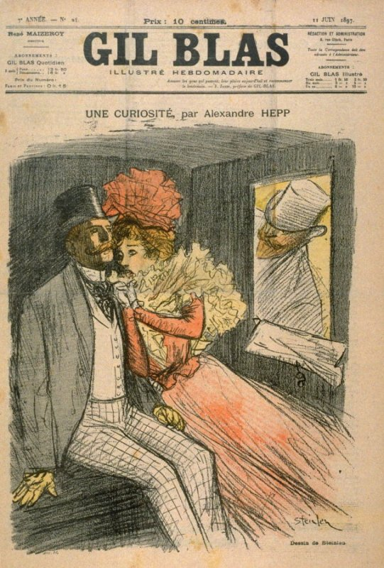 "Une Curiosite by Alexandre Hepp from the Paris Daily ""Gil Blas"" (11 June 1897)"