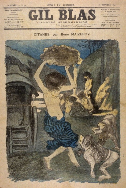 """Gitanes by Rene Maizeroy from the Paris Daily """"Gil Blas"""" (13 October 1897)"""