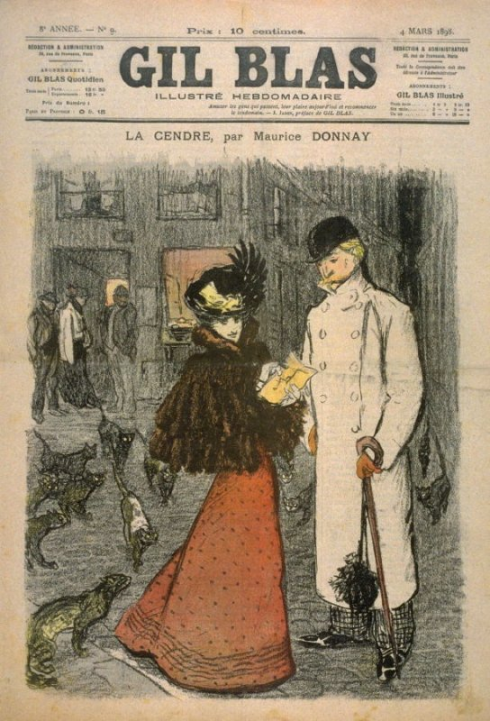 "La Cendre by Maurice Donnay from the Paris Daily ""Gil Blas"" (4 March 1898)"