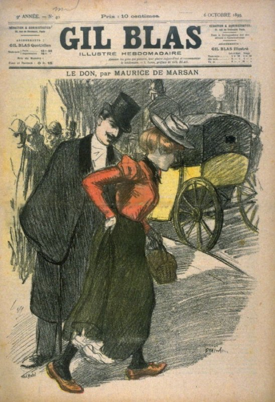 """Le Don by Maurce de Marsan from the Paris Daily """"Gil Blas"""" (6 October 1899)"""