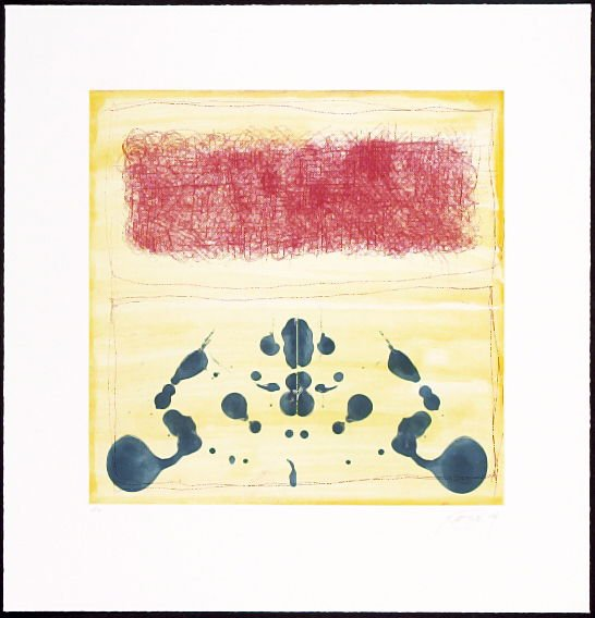 Mixed Marks, Rorshach with Red Rectangle