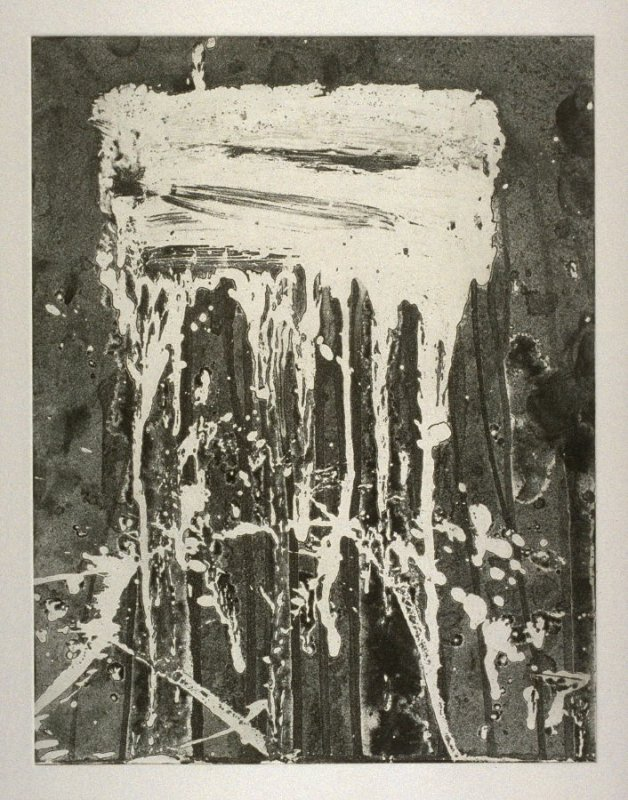Working proof 1 for Untitled (Test Print for Long Vertical Falls Series)