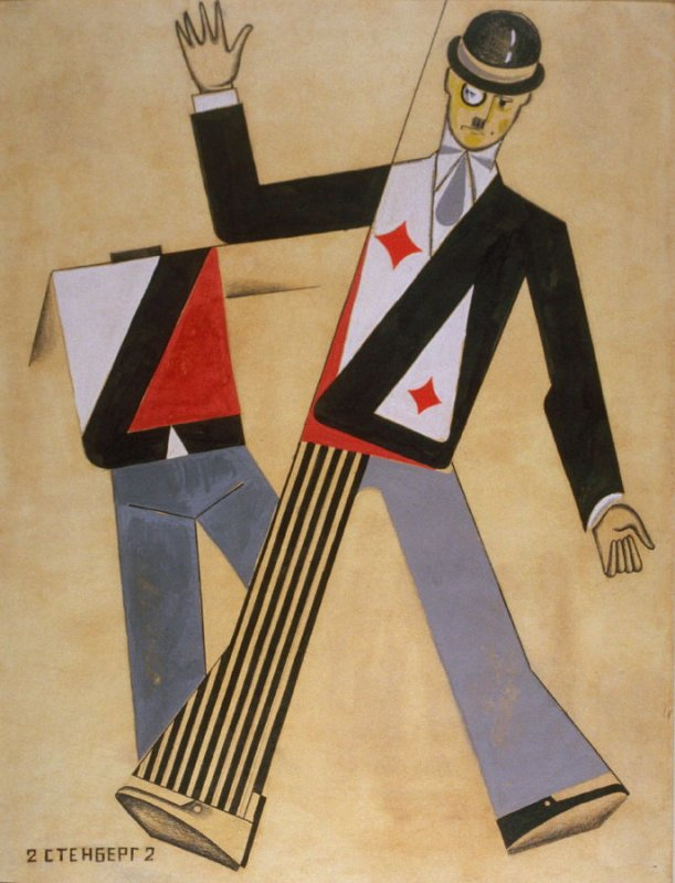 Costume design for 'The Threepenny Opera' by Berthold Brecht, Moscow Chamber Theater, with music by Kurt Weill