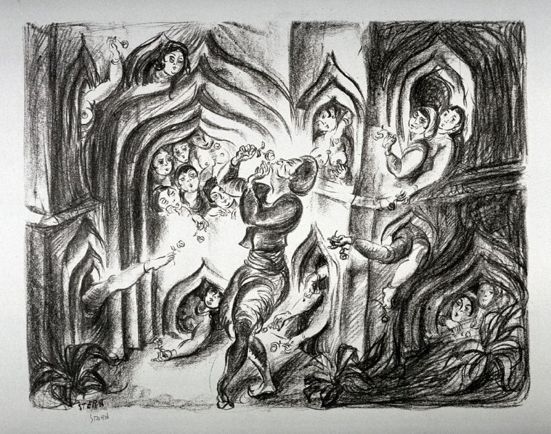 Sumurun (1 of 12 lithographs in portfolio)